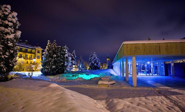 Bardejovske kupele, zima a bežky
