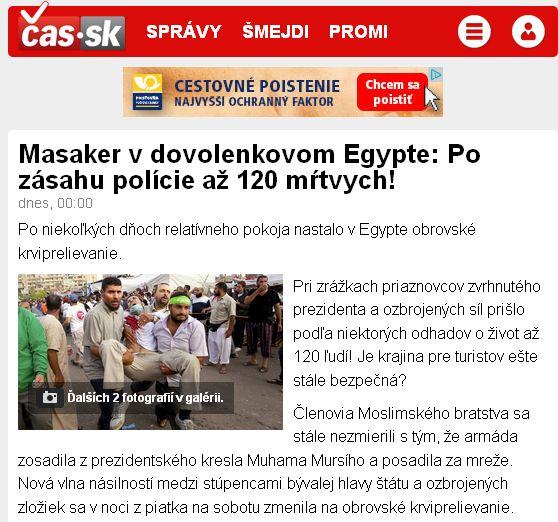 médiá, čas a ich masaker v Egypte