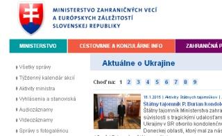 Ministerstvo zahraničných vecí o Ukrajine