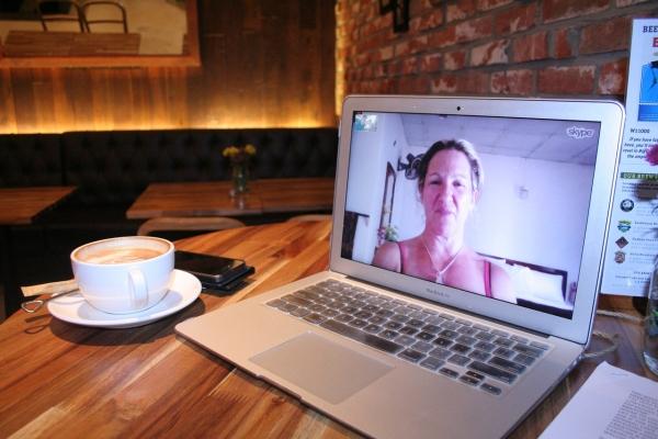 Skype kontakt s blízkymi