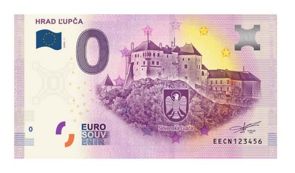 Hrad Ľupča a 0 eurová bankovka